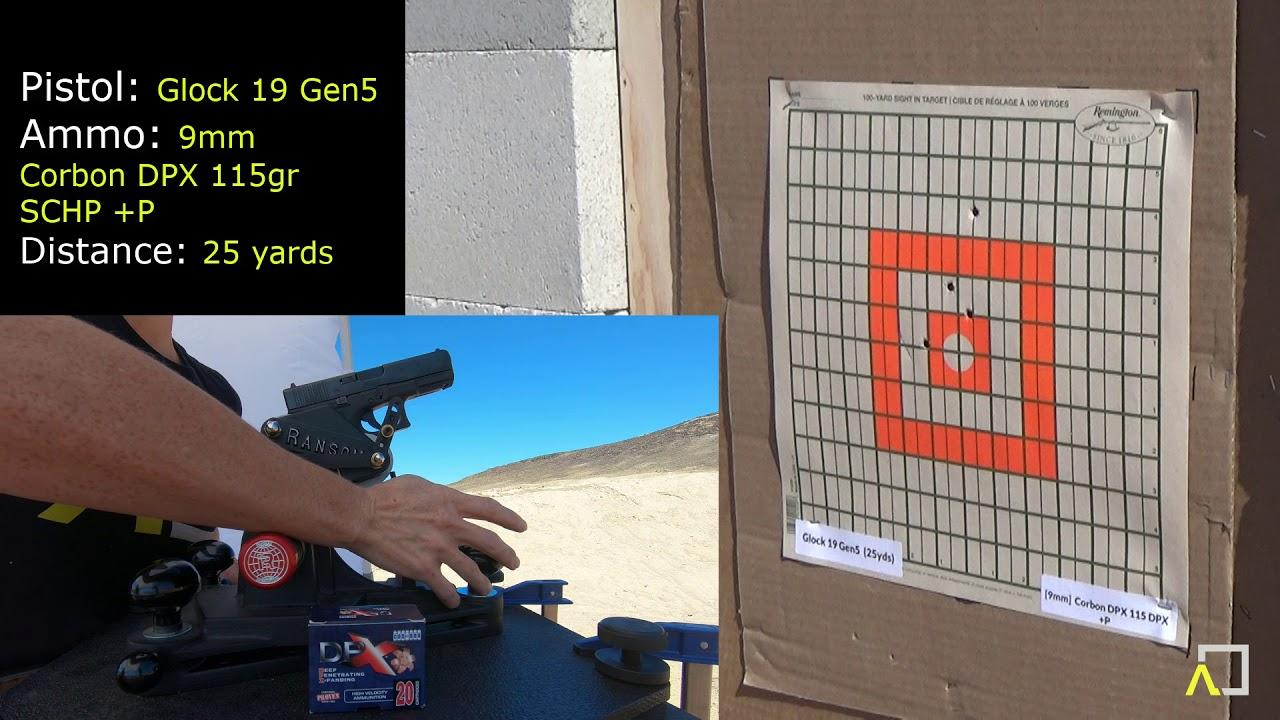 ACCURACY TEST: Glock 19 Gen5 with Corbon DPX 115gr +P