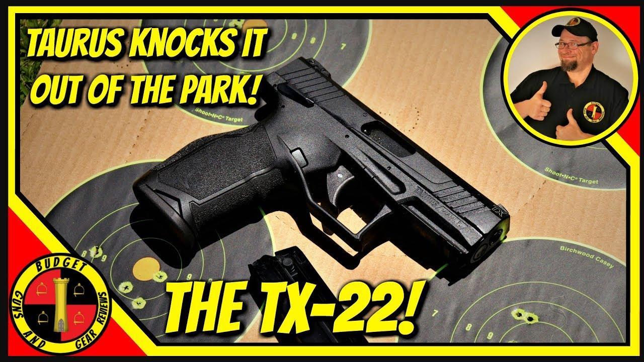 Taurus Tx22 22lr Review- Super Value 22lr! GUNSTREAMER ONLY