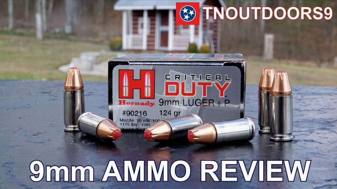 9mm +P 124 gr Hornady Critical Duty Ammo Review