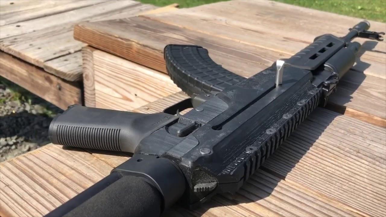 3D Printed AK-47 Rifle [Test Fire]