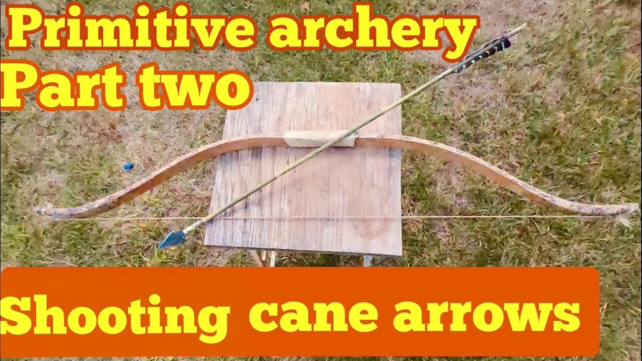 Primitive archery testing the green cane arrow for speed and